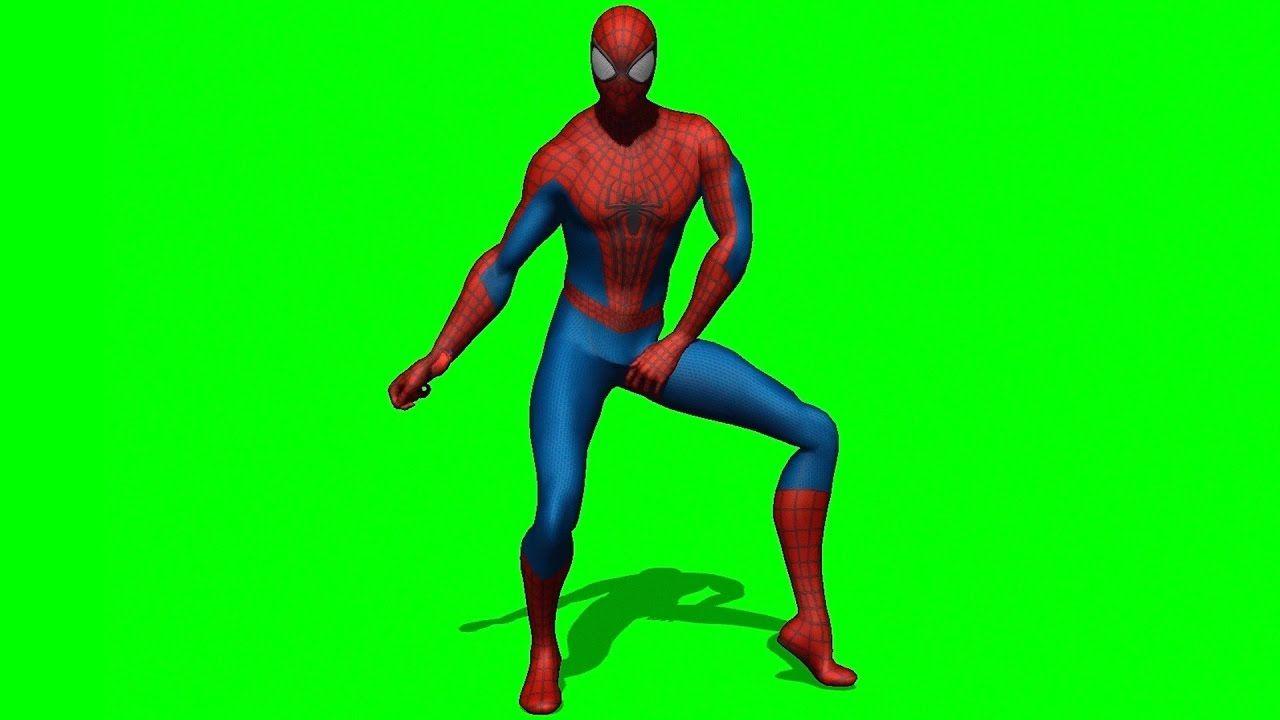 Spiderman Dancing Green Screen Royalty Free Gambar Bergerak Orang Lucu Lucu