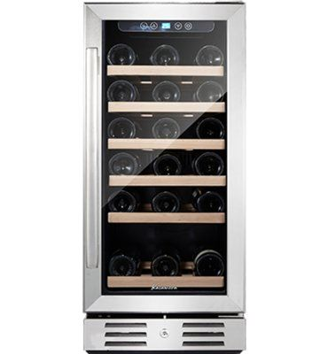 Kalamera 30 Bottle Single Zone Freestanding Built In Wine Refrigerator Best Wine Coolers Built In Wine Cooler Built In Wine Refrigerator