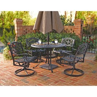 For Home Styles Biscayne Cast Aluminum Black 5 Piece Patio Dining Set Get