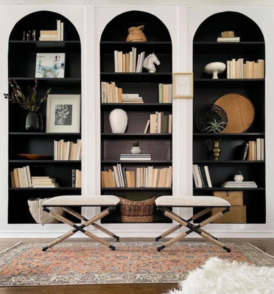 Built-In Bookcase IKEA Hacks