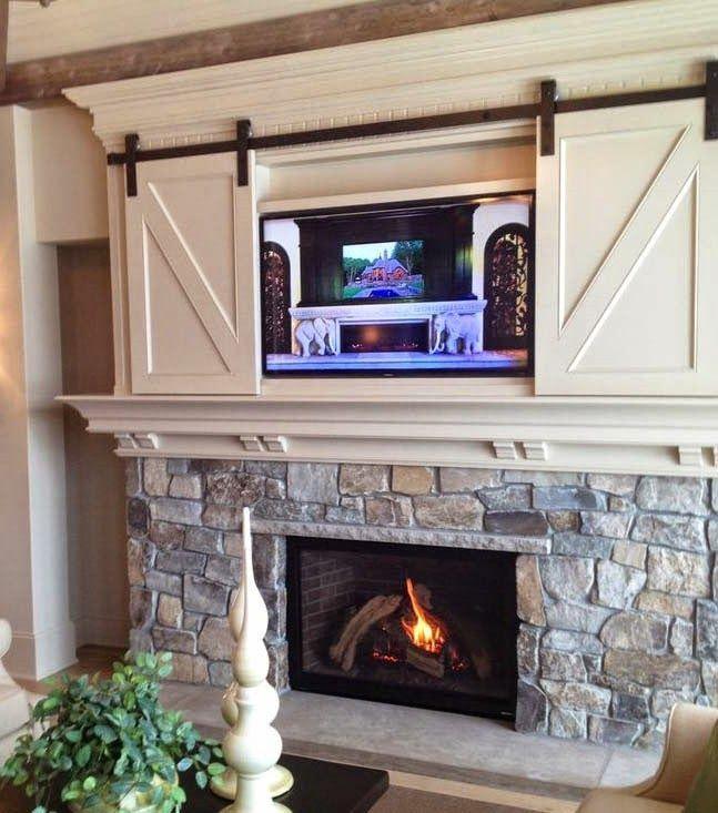 Barn Door Fireplace