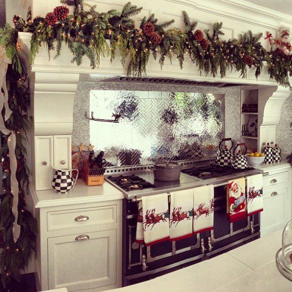 kris jenners christmas kitchen complete with mackenzie childs decorating your kitchen for noel - Pinterest Christmas Kitchen Decorating Ideas