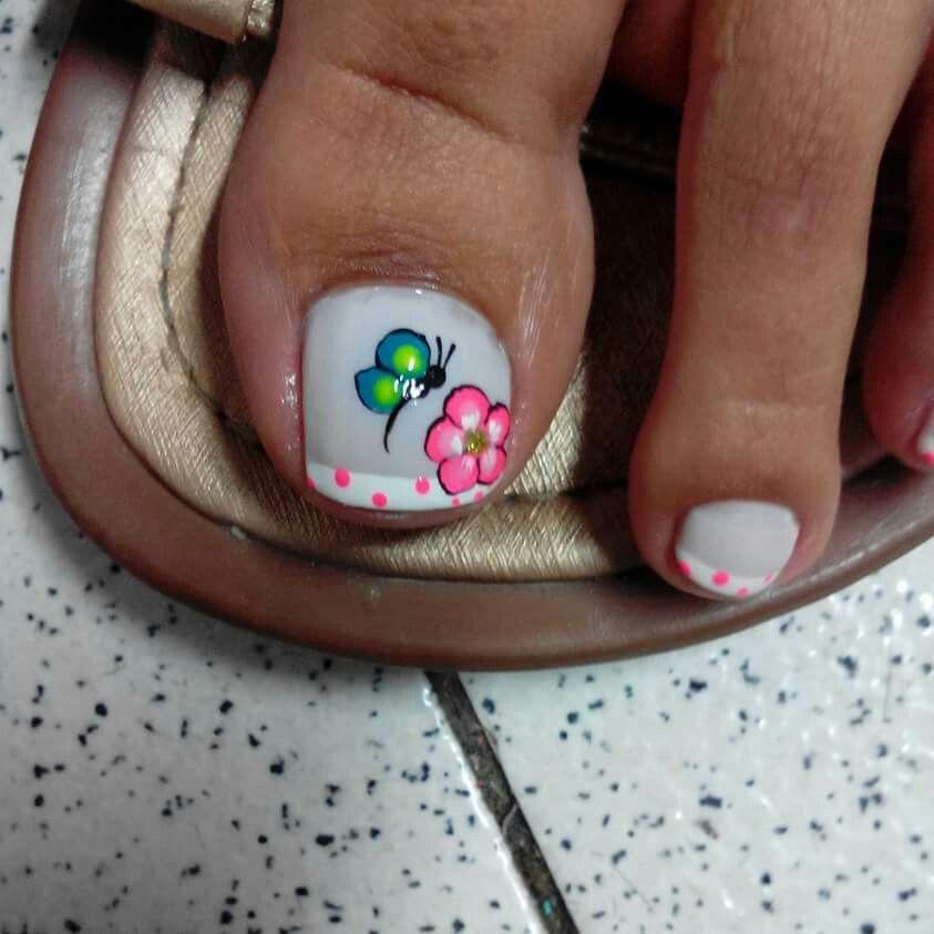Uñas de pies | uñas | Pinterest | Uñas de pies, Uñas pies y Uña ...