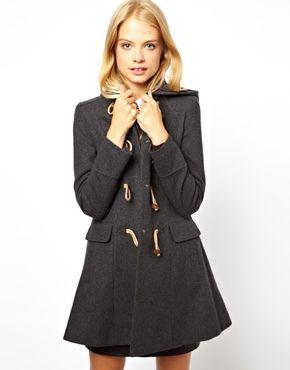 ++ hooded duffle coat