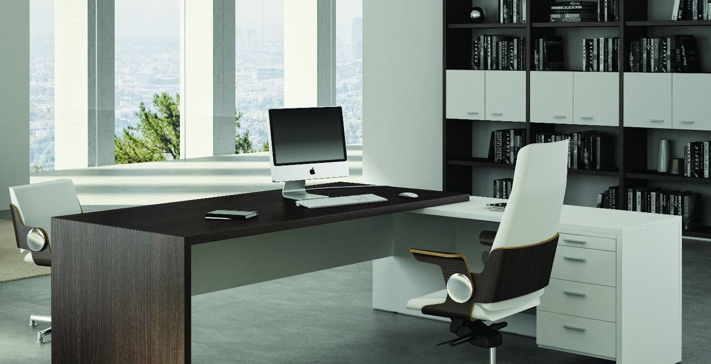 bureau direction design contemporain et retour california. Black Bedroom Furniture Sets. Home Design Ideas