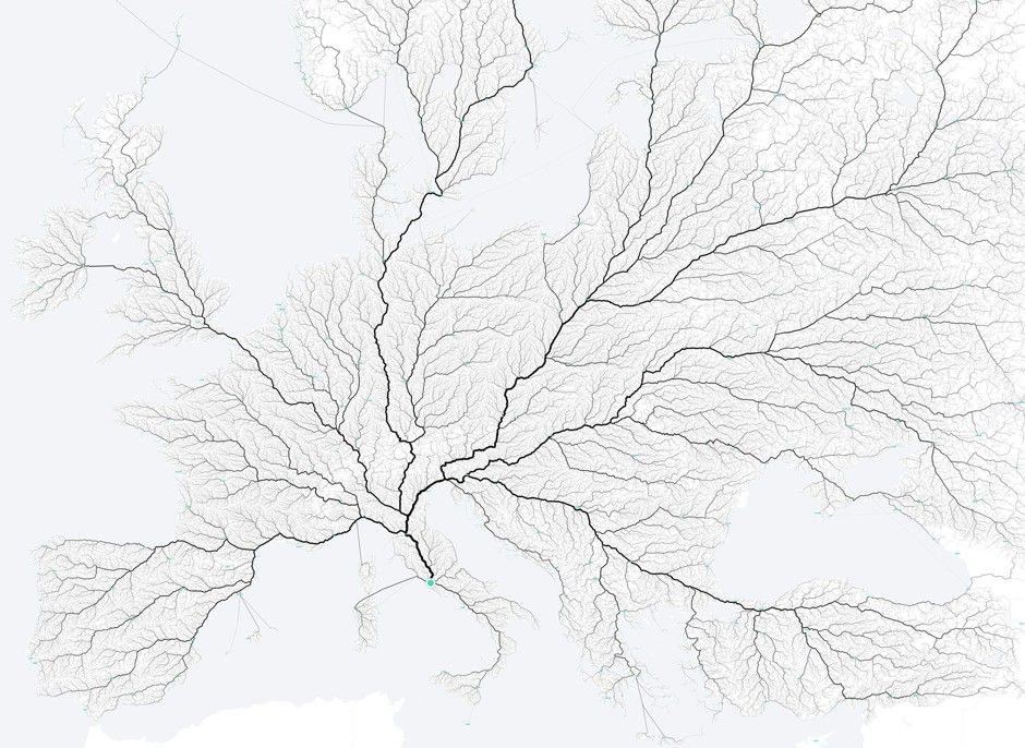 All Roads Lead to Rome According to New Map From Moovel Lab - CityLab