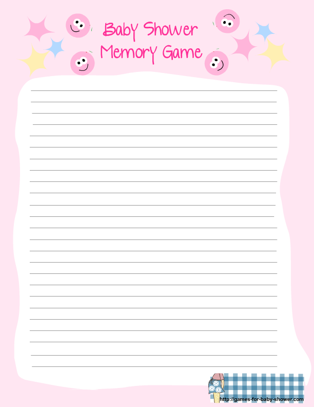 Free Printable For Baby Shower Memory Game In Pink Color Free Printable Baby Shower Games Printable Baby Shower Games Free Baby Shower