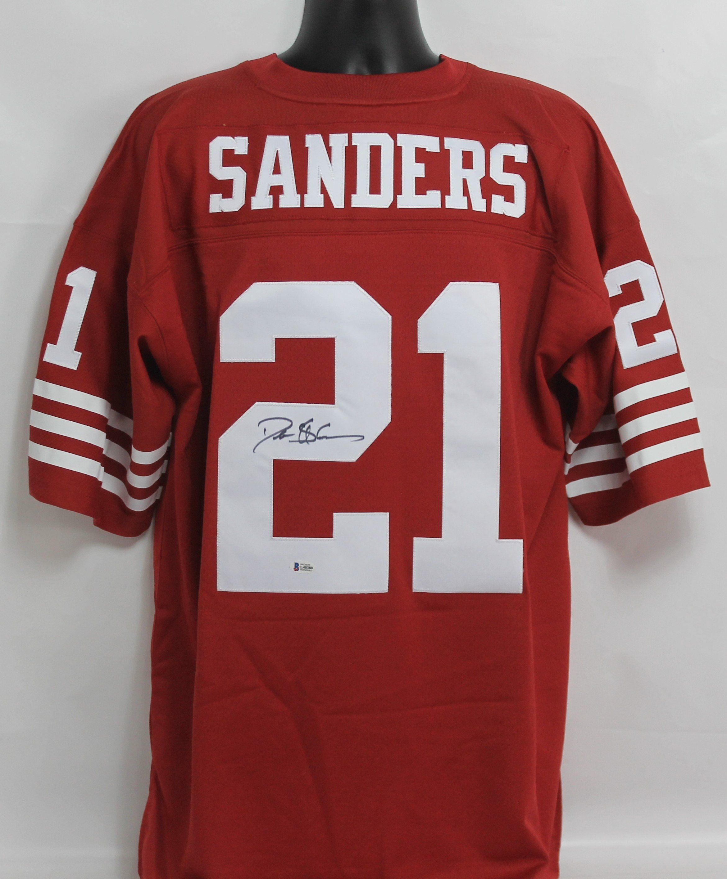 reputable site 6529e 16f56 Deion Sanders Autographed San Francisco 49ers Red Mitchell ...