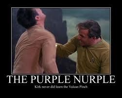 Captain Kirk never learned the Vulcan Nerve Pinch....