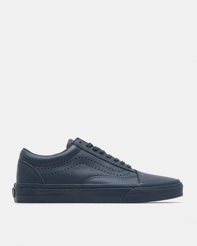 3792c5e661 Vans Vault - Old Skool Reissue Deluxe Leather (Midnight Navy) - Sale -  Footwear