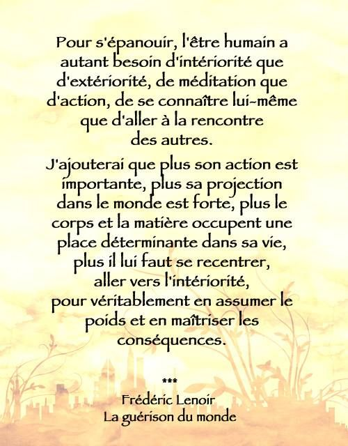Frederic Lenoir La Guerison Du Monde Citation Citations Litteraires Belles Citations