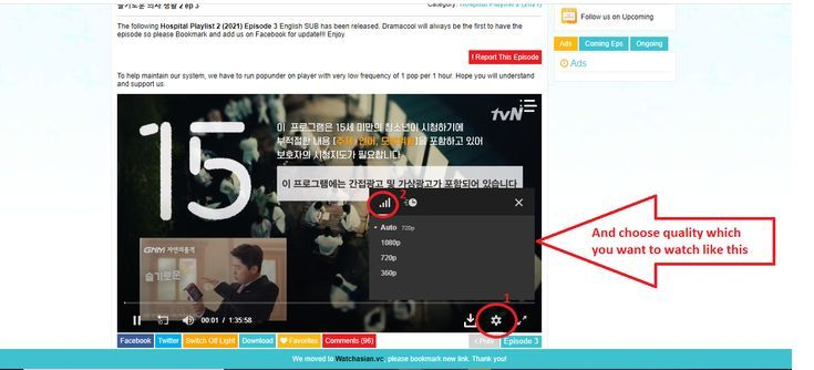 HOW TO CHOOSE THE QUALITY ON DRAMACOOL'S VIDEO