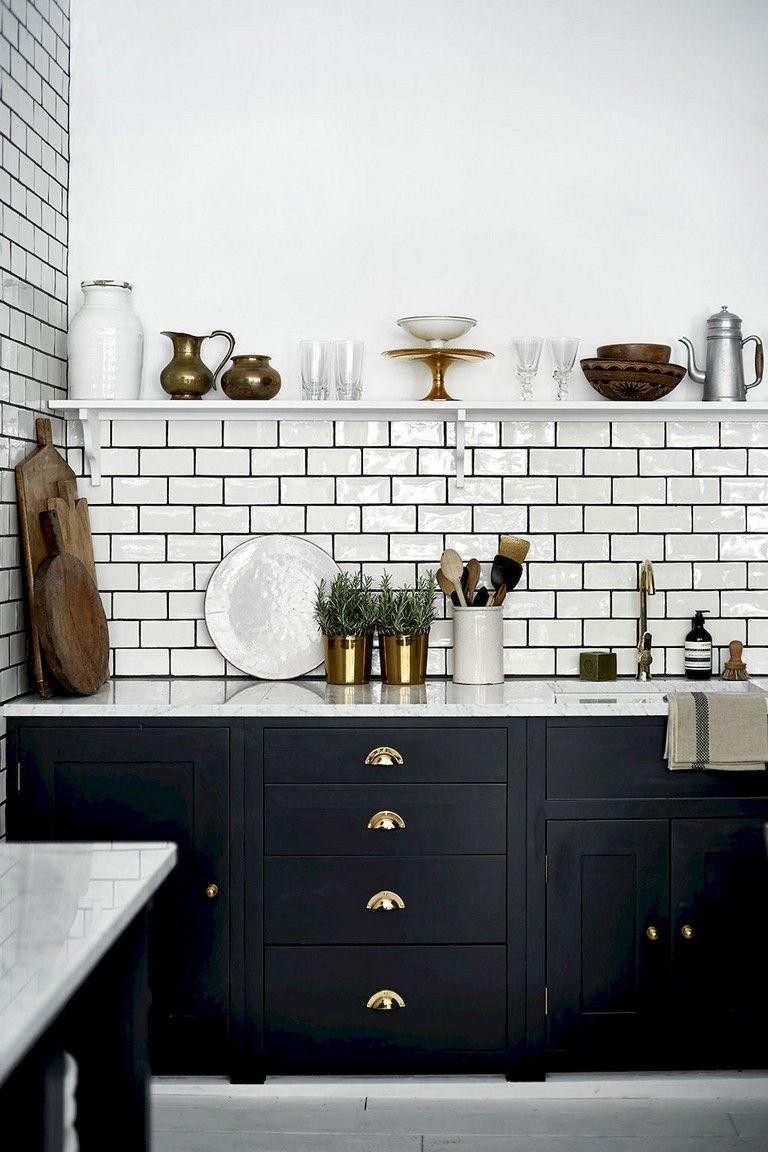 72 Lovely Kitchen Backsplash With Dark Cabinets Decor Ideas With