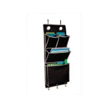 Amazon.com: Over the Door Magazine Storage Pockets Hooks Books Organizational Back to School Office Home: Home & Kitchen