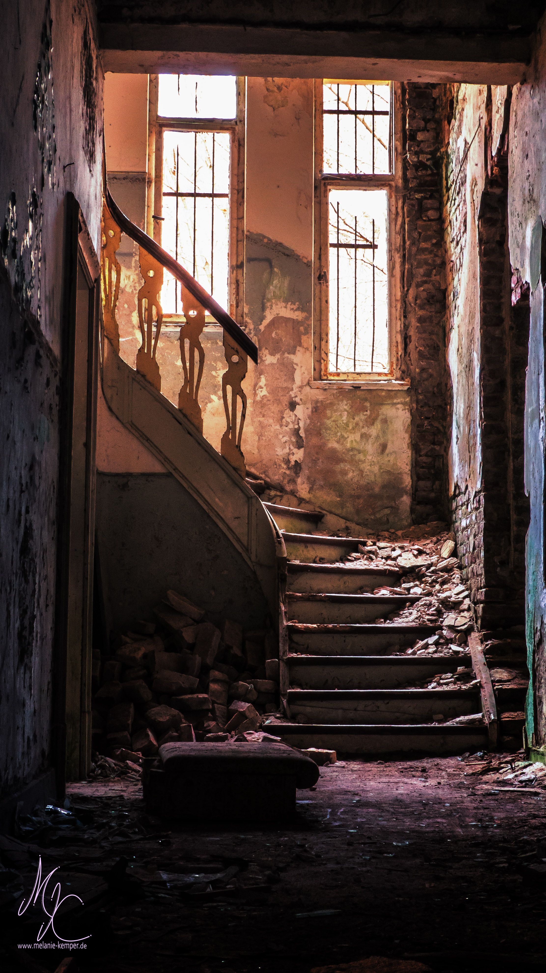 This was the biggest house that is currently rotting away an the premises we found. It once belonged to a wealthy industrial and seems to have had something of a rather shady history during WW2. I …