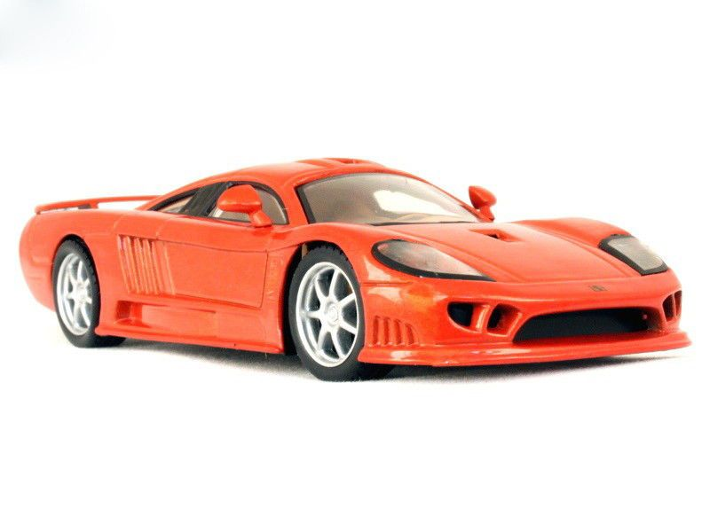 Saleen S7 Red Color Supercar 2 Door Coupe Diecast Model Car 1 43 Scale 1968 Supercars Saleen 1960s Cars Twin Turbo Sports Car
