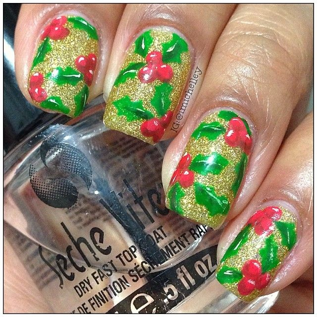 christmas by imichelley #nail #nails #nailart   Vou!   Pinterest