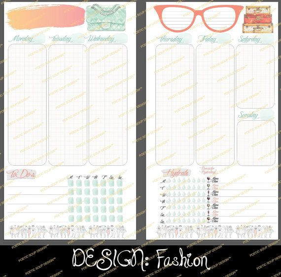 SALE Personal Size PRINTED Agenda Insert by PoeticSoupDesigns ...
