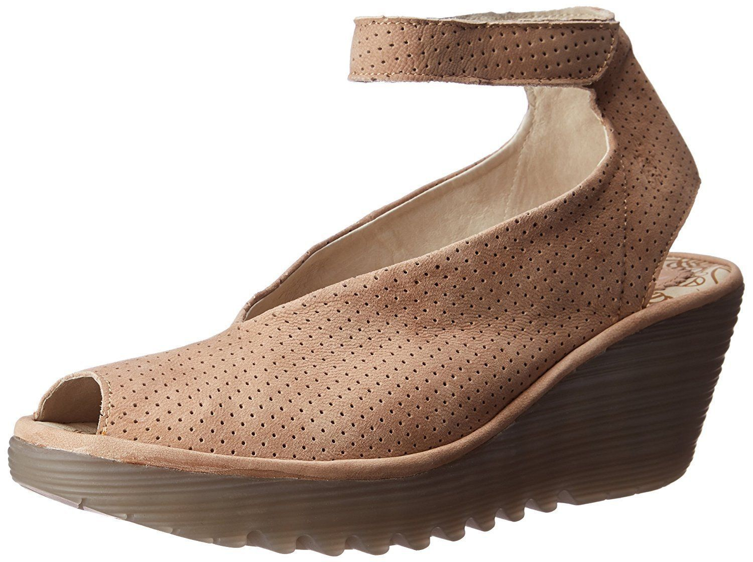 FLY London Women's Yala Perforated Wedge Sandal