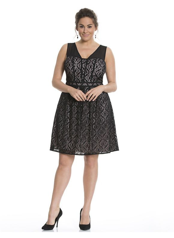 Plus Size Lace fit & flare dress by Adrianna Papell Lane Bryant ...