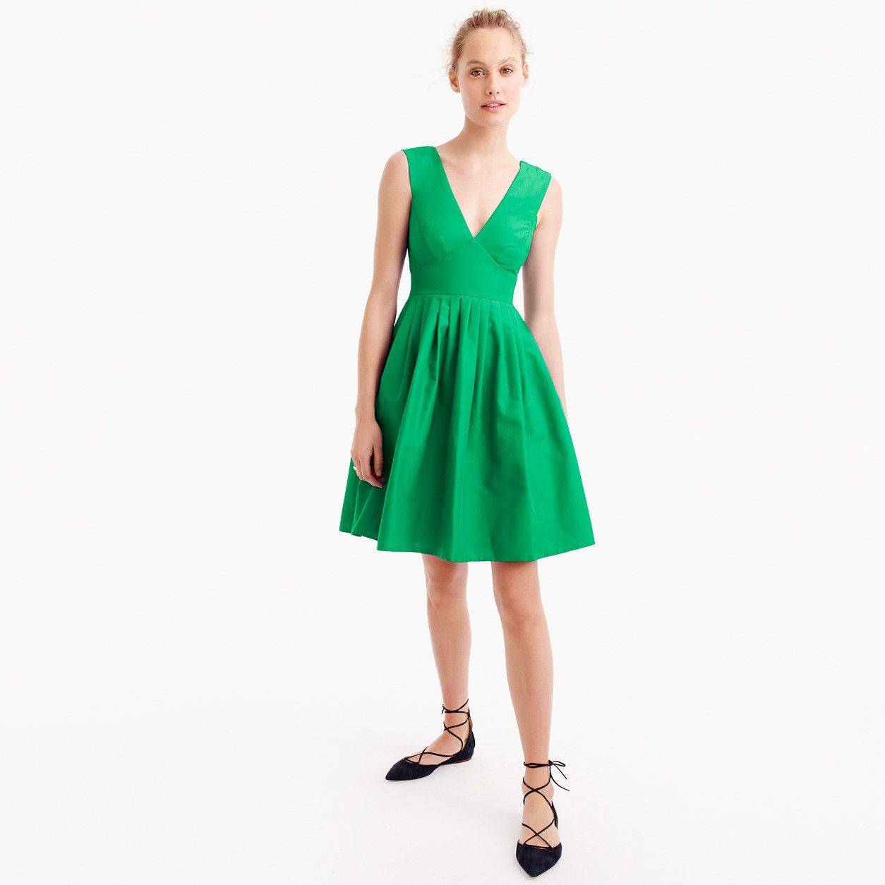 Jcrew womens tall vneck aline dress in faille size tall