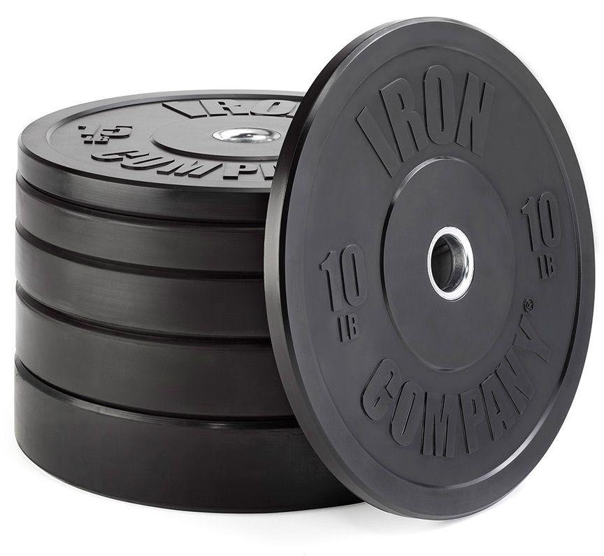 Rubber bumper plates iron company ic pbbp garage gym equipment