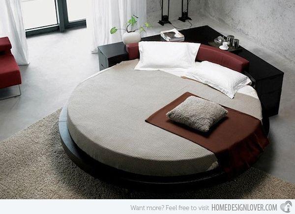 15 Fashionable Round Platform Beds   Ideen