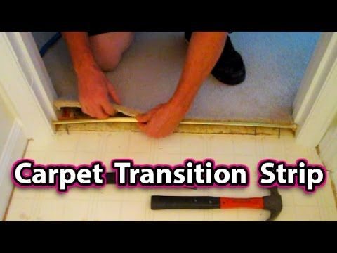 How To Install A Carpet Transition Strip Easy Floor Repair Fix