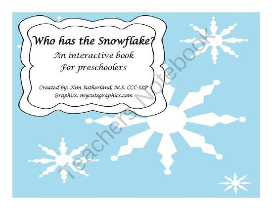 Who has the Snowflake Interactive Book from kimsutherland on TeachersNotebook.com -  (11 pages)  - This interactive book has 11 pages of attention grabbing pictures along with manipulative to use on each page.