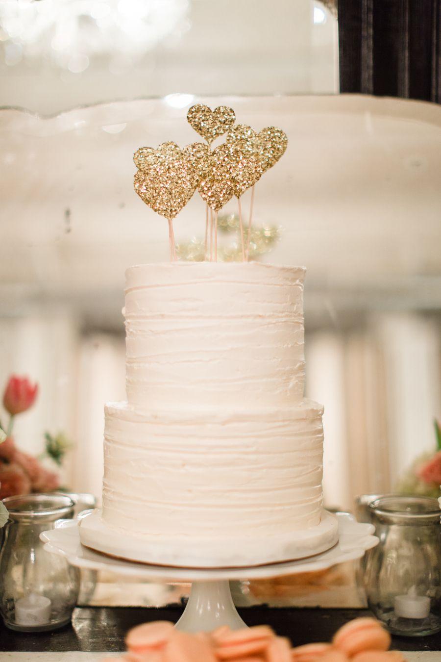 Accessoires décoratifs en forme de coeurs pour support de gâteau de mariage