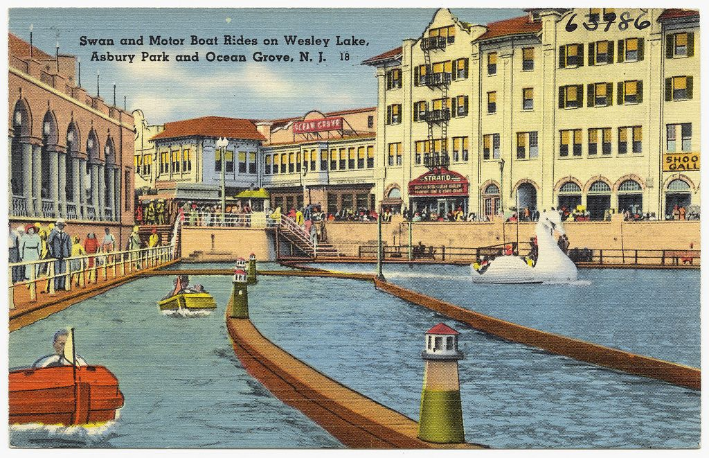 Swan And Motor Boat Rides On Wesley Lakes Asbury Park And