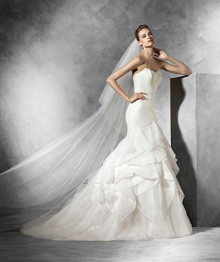 ledurne - robe de mariée décolleté bustier en plumes | princess