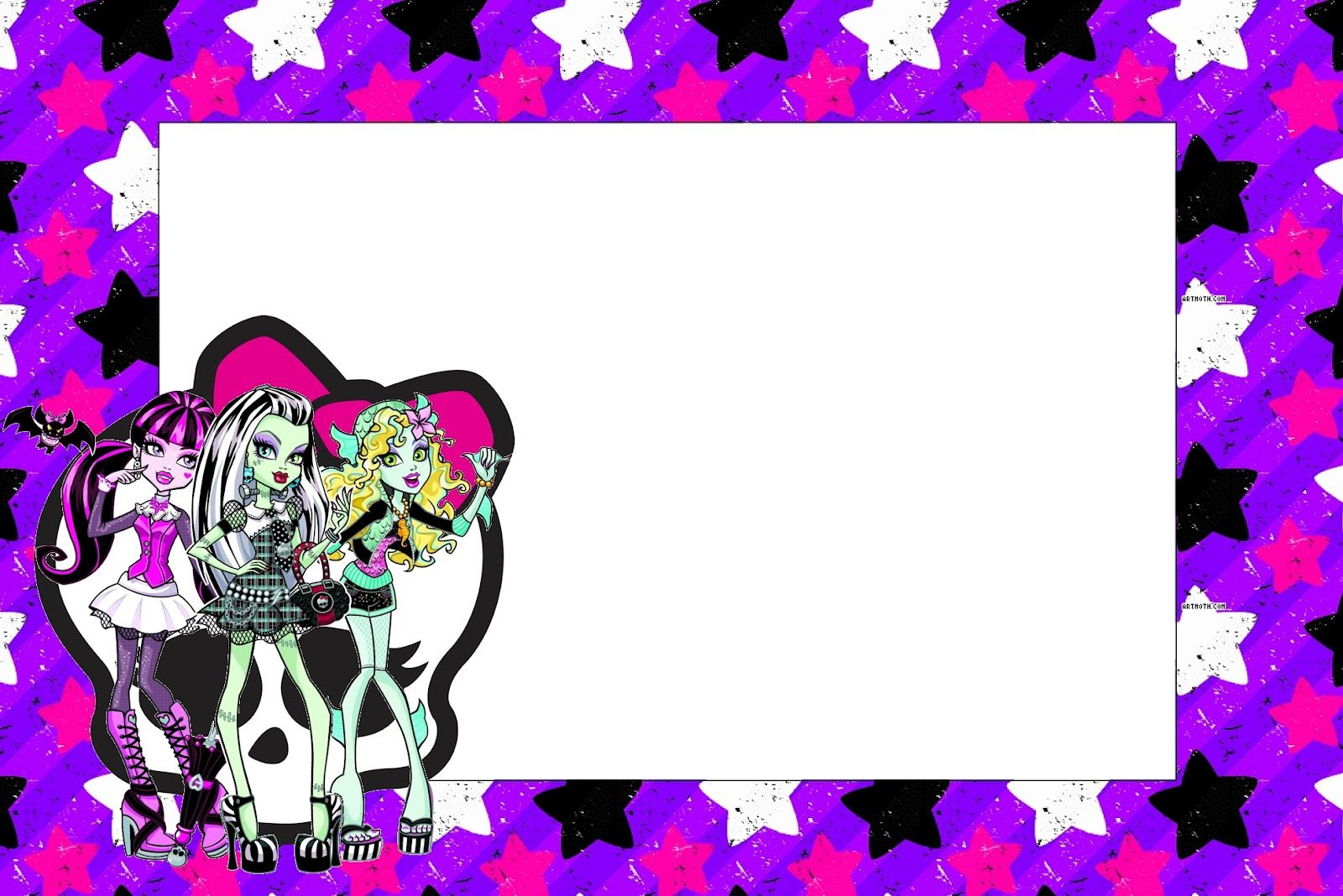 Monster High: Free Printable Party Invitations. | paola fiestas ...