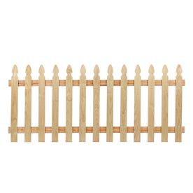 Severe Weather Pressure Treated Pine Privacy Fence Panel Common 8 Ft X 3 5 Ft Actual 8 Ft X 3 5 Ft Picket Fence Panels Wood Picket Fence Fence Panels
