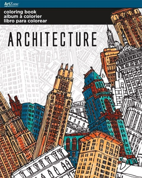 Trends Coloring Book Architecture Trends International Part Az10 8 Artzone Trendsinternational Coloring Books Adult Coloring Books Trends International