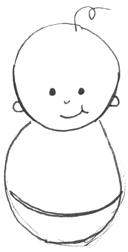 How To Draw Cartoon Baby With Easy Drawing Lesson For Kids Easy