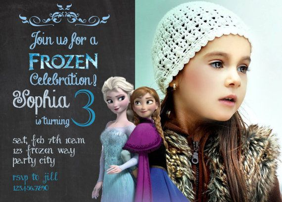 Frozen Birthday Invitation Disneys Frozen Disney Princess