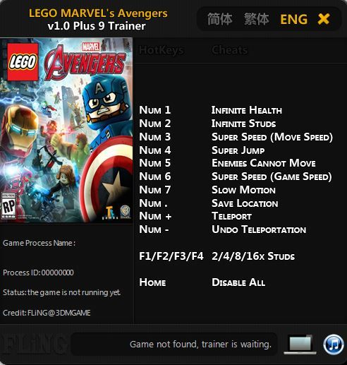 lego marvels avengers trainer download pc