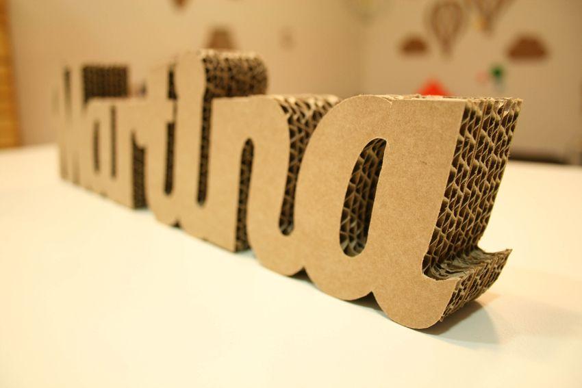 Martina nombre en cart n nombres en cart n pinterest - Chiffre en carton 3d ...