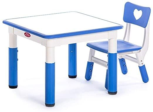 Jn Children S Study Desk Toddler Tables Chairs Children S Table Stool Smooth Safety Plastic Water Based Pe In 2020 Study Table And Chair Kids Study Table Toddler Table