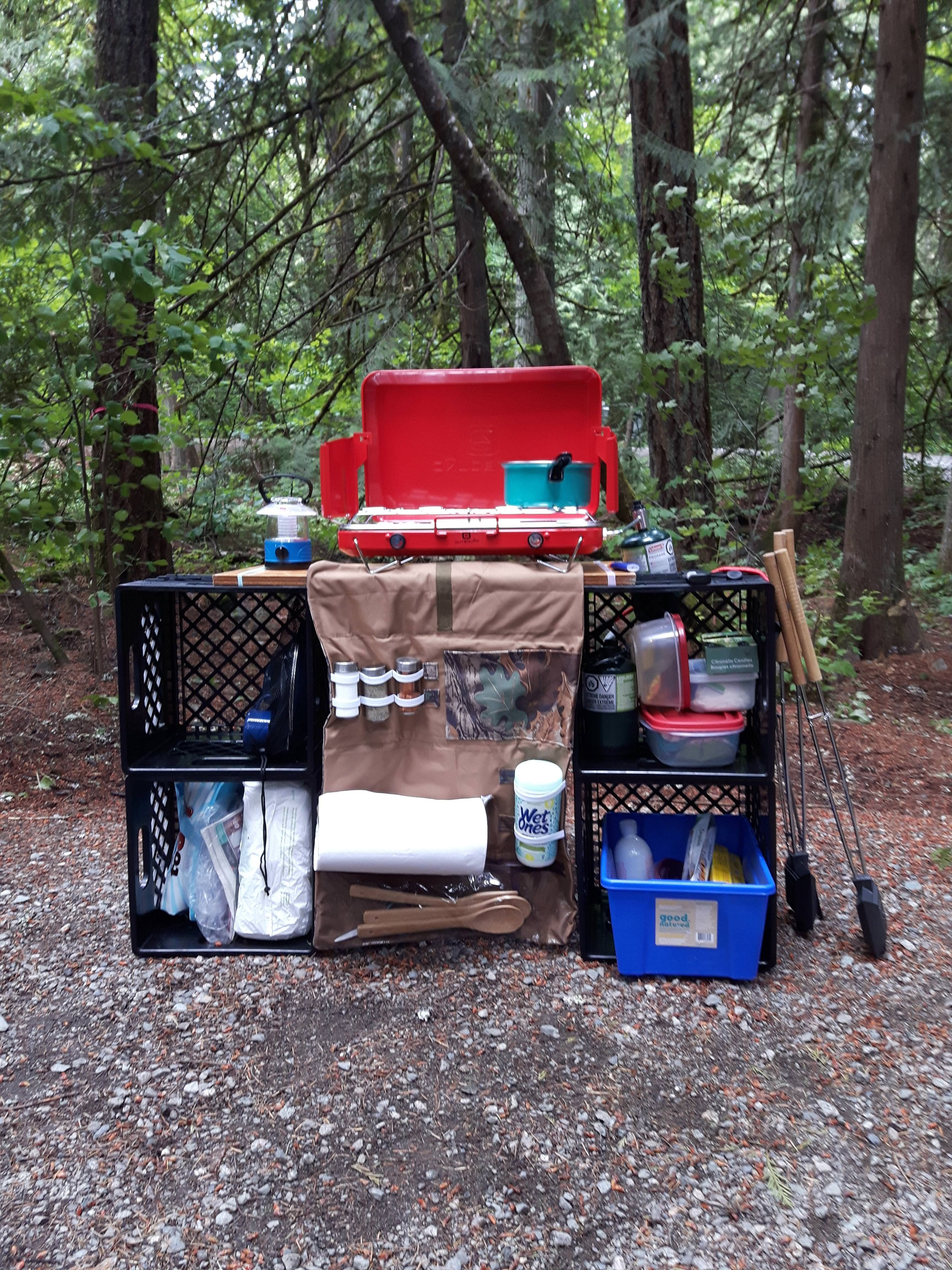 Photo of DIY Camp Kitchen Set Up