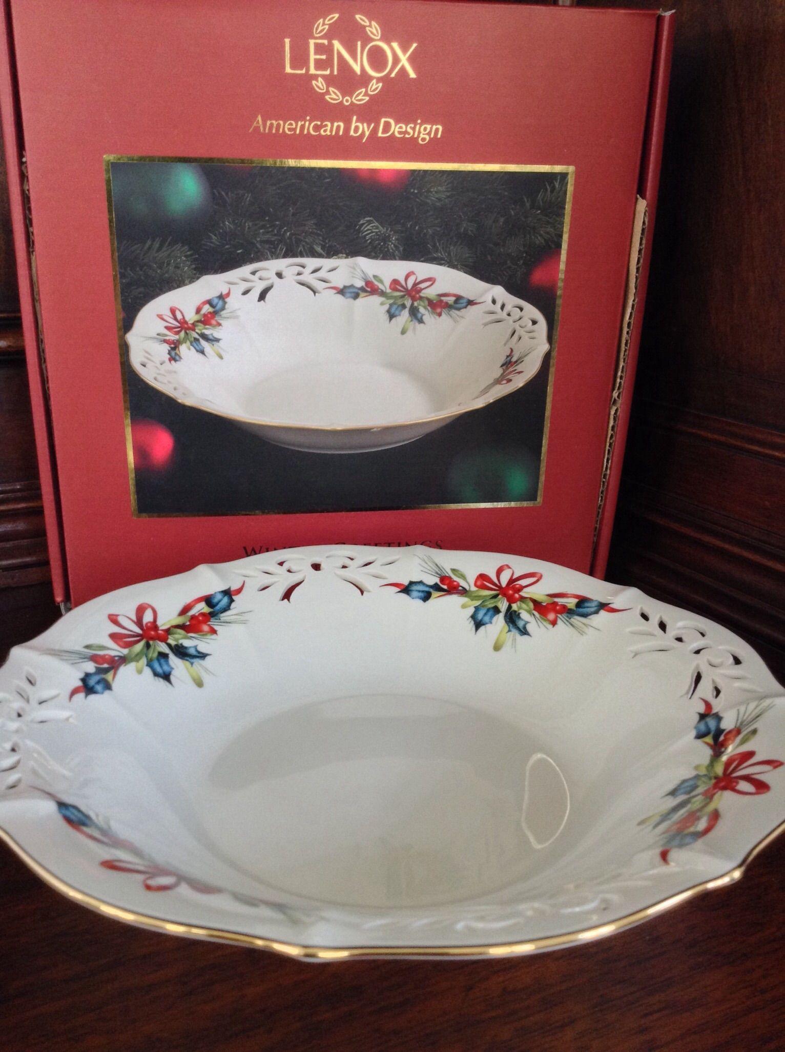 Lenox winter greetings pierced low bowl lenox pinterest lenox winter greetings pierced low bowl m4hsunfo