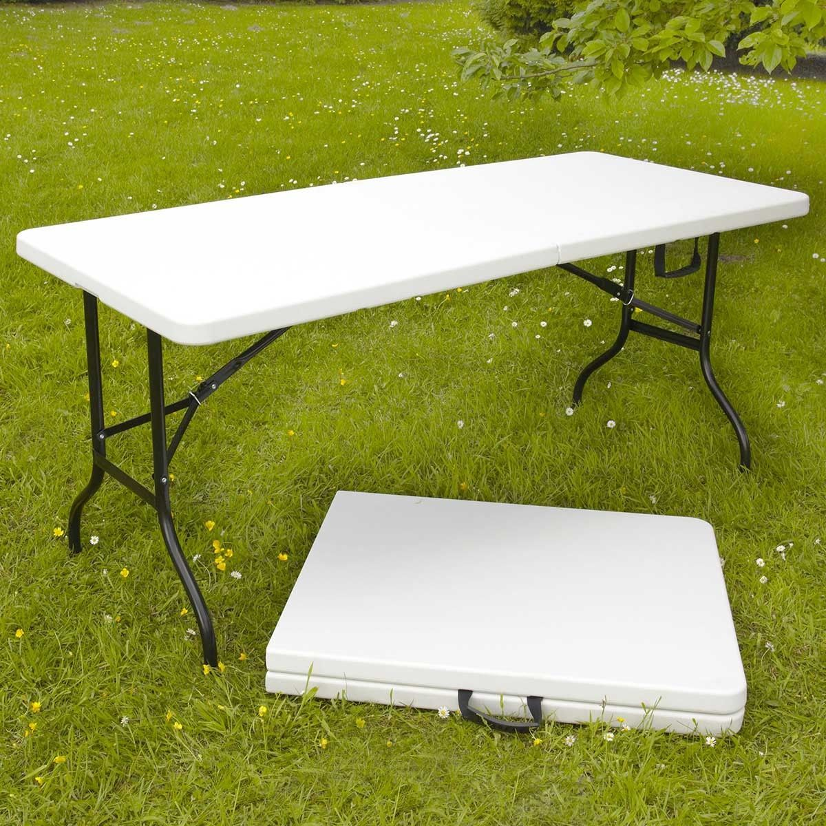 Tables pliantes de camping 180cm 8 places blanches 180cm - Tables pliantes castorama ...