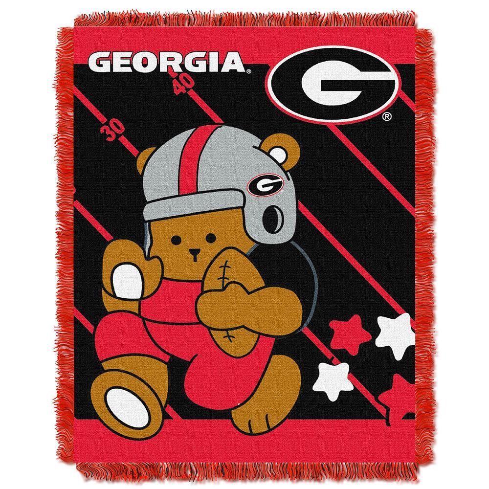 Georgia Bulldogs NCAA Triple Woven Jacquard Throw (Fullback Baby Series) (36x48)