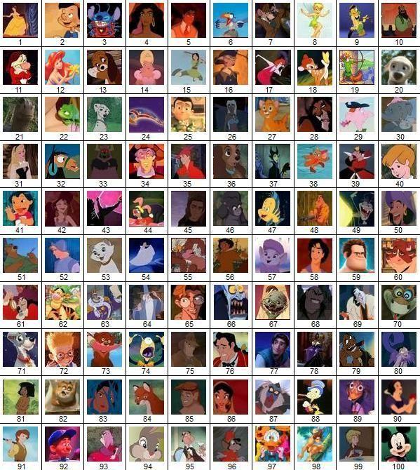 Disney Movies Characters Names Disney movie characters