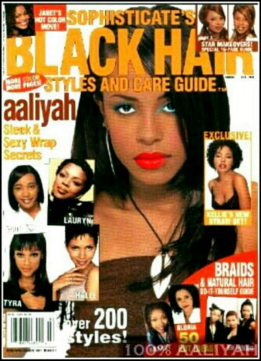 Aaliyah In Sophisticate S Black Hair Magazine 1998 Black Hair