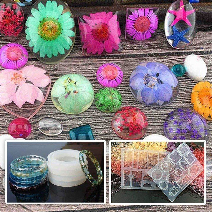 Photo of DIY Crystal Glue Jewelry Mold 83 Pcs Set – knitting is as easy as 1, 2, 3 D …