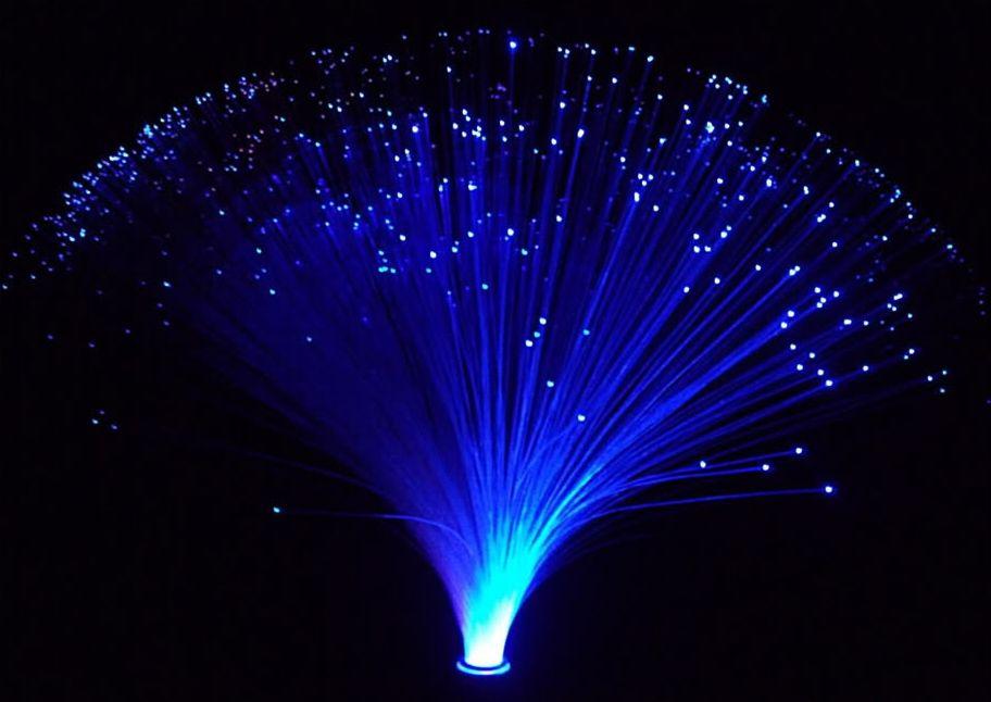 fiber optic solar lighting garden