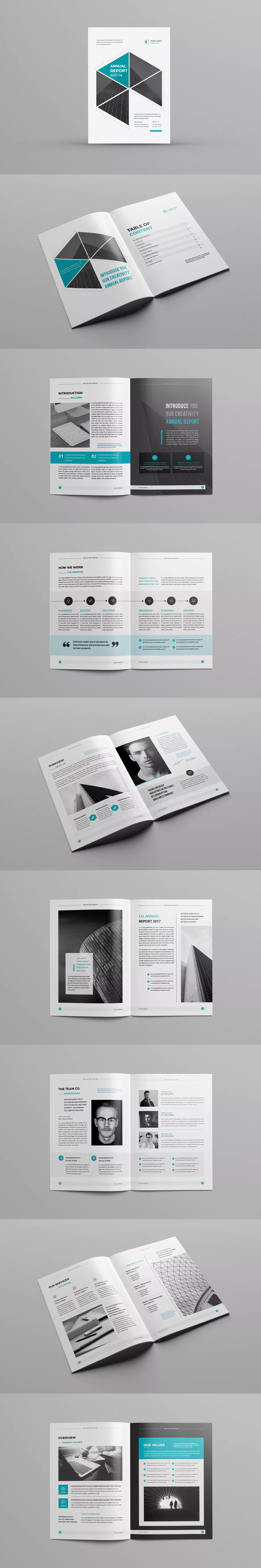 Annual Report Template - 24 Pages - INDD | Annual Report Brochure ...
