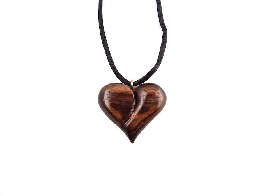 Wooden pendant heart hand carved pendant wood jewelry wooden wooden pendant heart hand carved pendant wood jewelry mozeypictures Choice Image